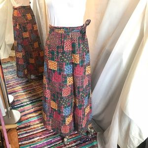 Dresses & Skirts - Vintage 70's Boho Hippie Patch Wrap Maxi Skirt